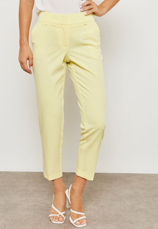 Structured Cropped Pants