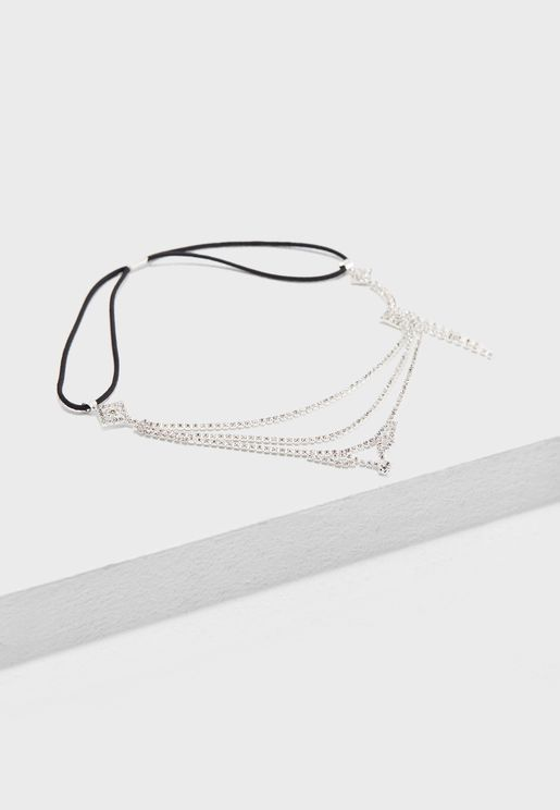 Diamante Drop Headband