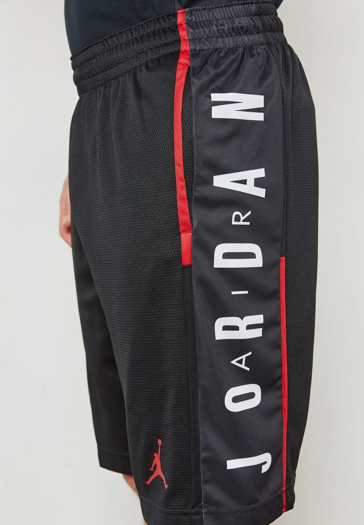 bf8e0ef2780b Shop Nike black Jordan Rise Graphic Shorts 888376-010 for Men in UAE ...