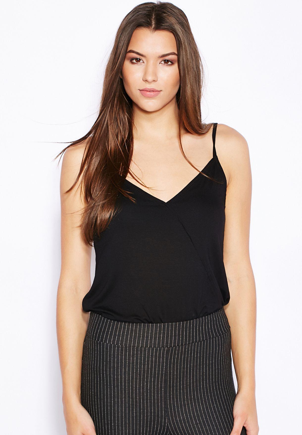 0f0f3cbe556 Shop Miss Selfridge black Wrap Bodysuit for Women in Qatar ...