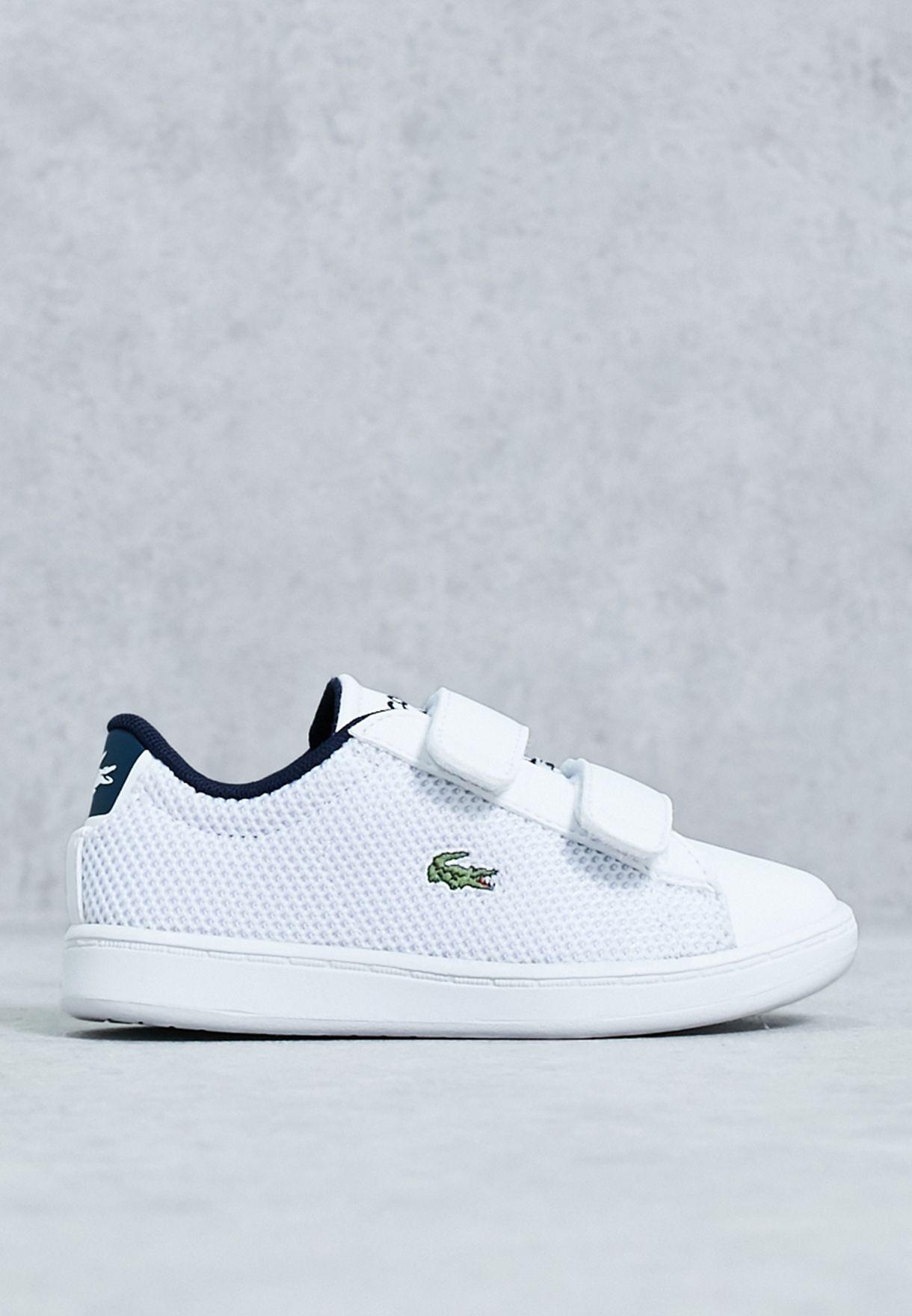 0059f81ec20c Shop Lacoste white Carnaby Evo Infant 33SPI1001-001 for Kids in ...