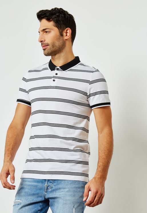 Fine Striped Polo