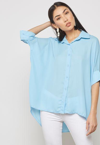 Oversized Dip Hem Shirt