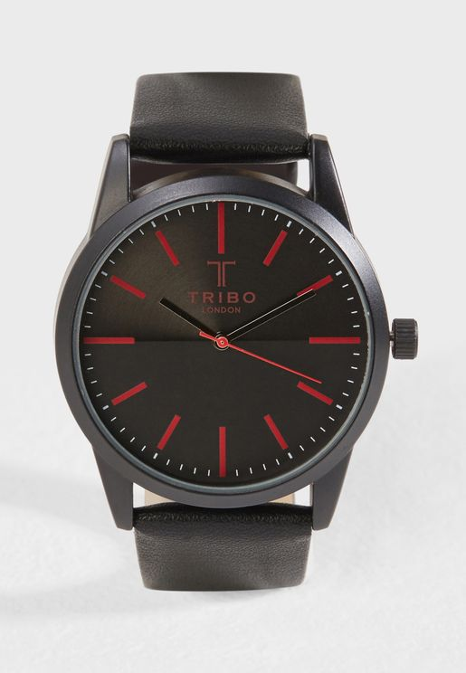 Textured Dial Analogue Watch