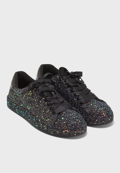 Flat Lace To Toe In Glitter