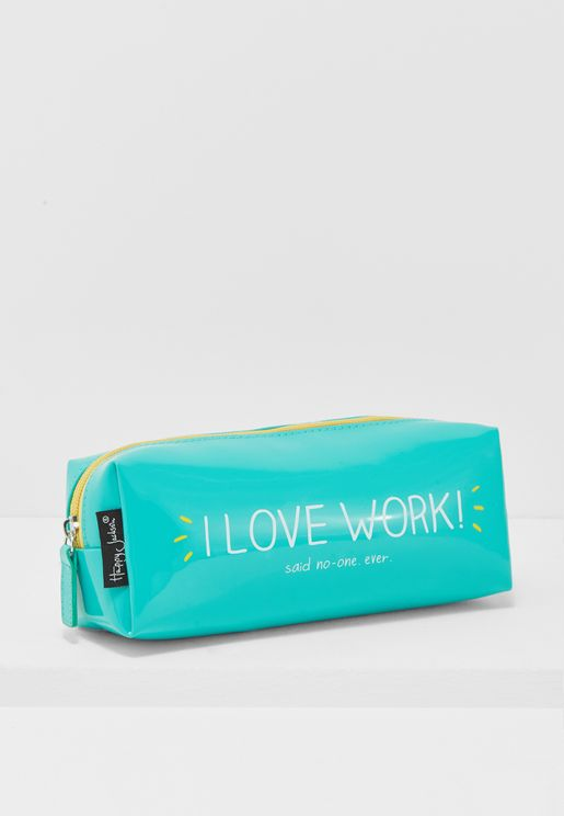 I Love Work Cuboid Pencil Case