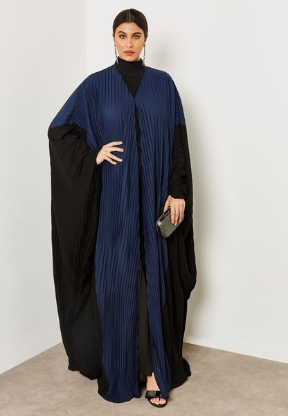 Colourblock Pleated Abaya