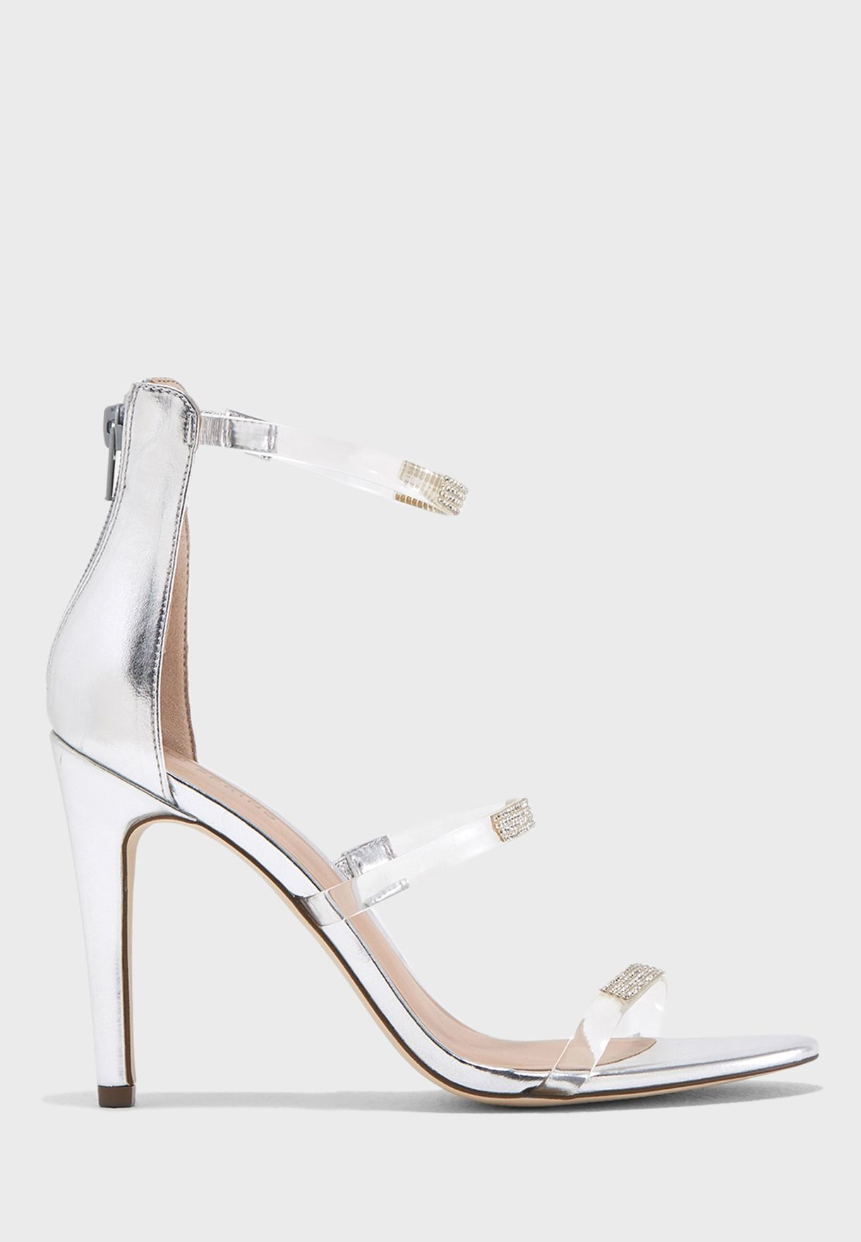 ca983e018 Shop Call It Spring silver Duni Block Heeled Sandals DUNI40 for ...