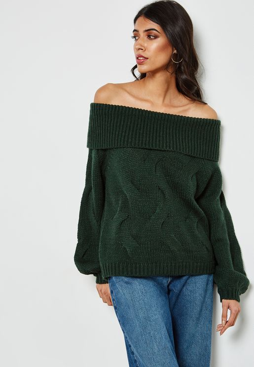 Bardot Cable Knit Sweater