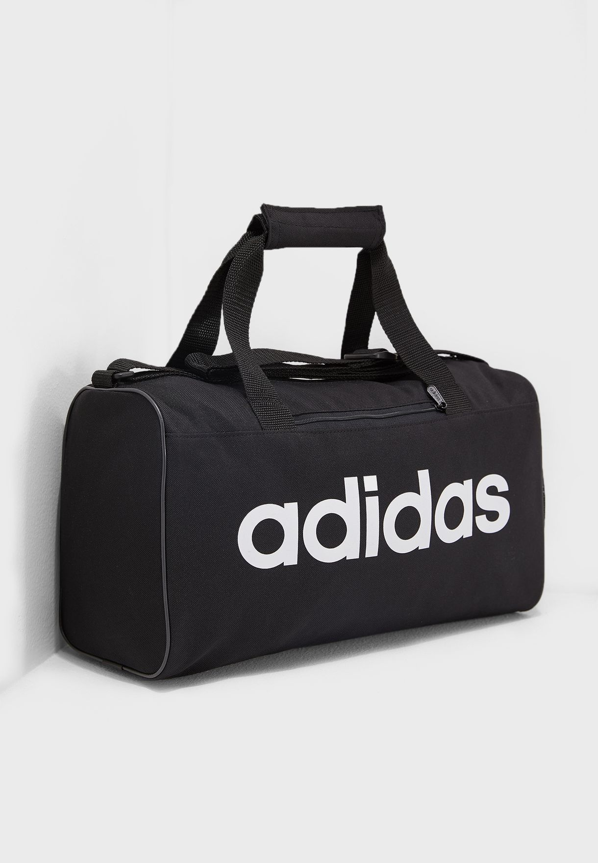 c3c649e585 Shop adidas black Extra Small Linear Core Duffel DT4818 for Women in ...