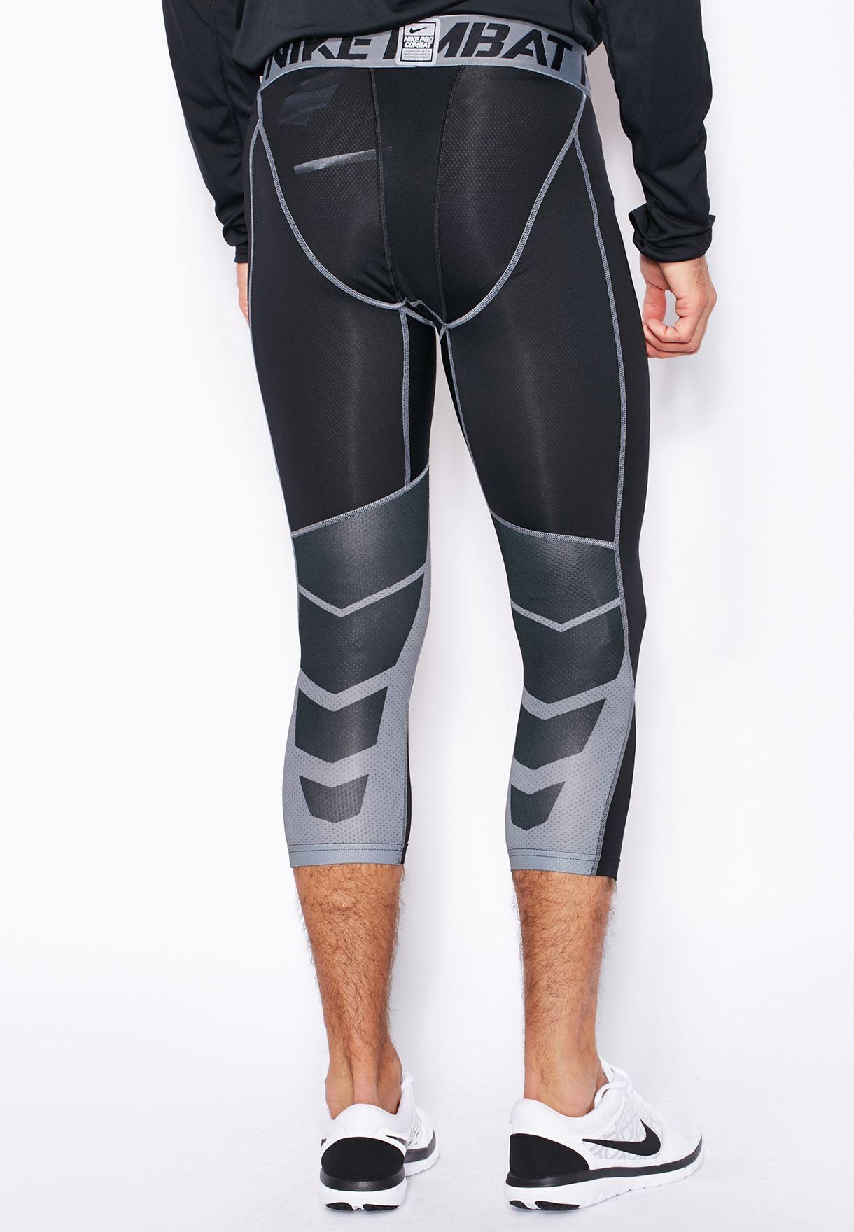 90b3b32296ceb Shop Nike black Hypercool Compression 3/4 Tights 636161-010 for Men ...