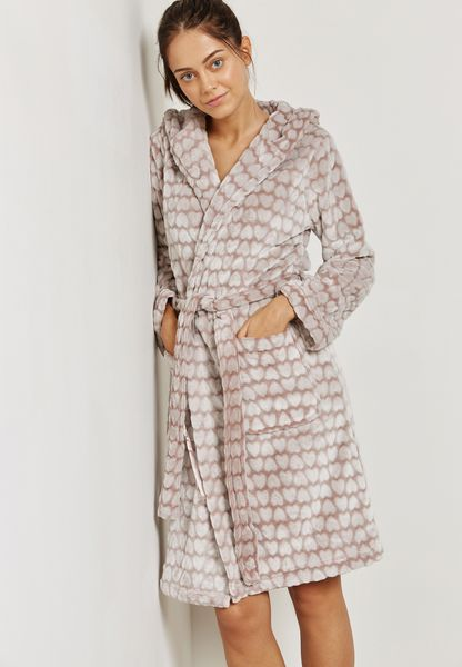 Heart Embossed Robe