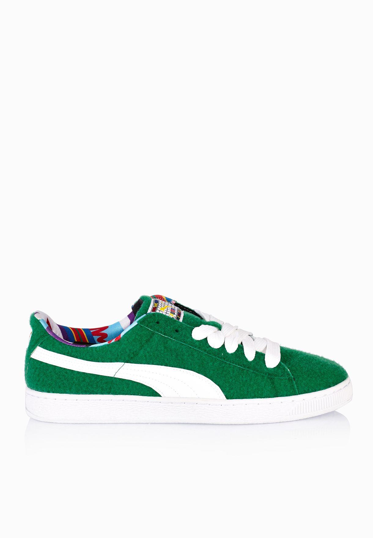 85c230152f2 Shop PUMA green Basket X Dee  amp  Ricky CR 36008402 for Men in ...