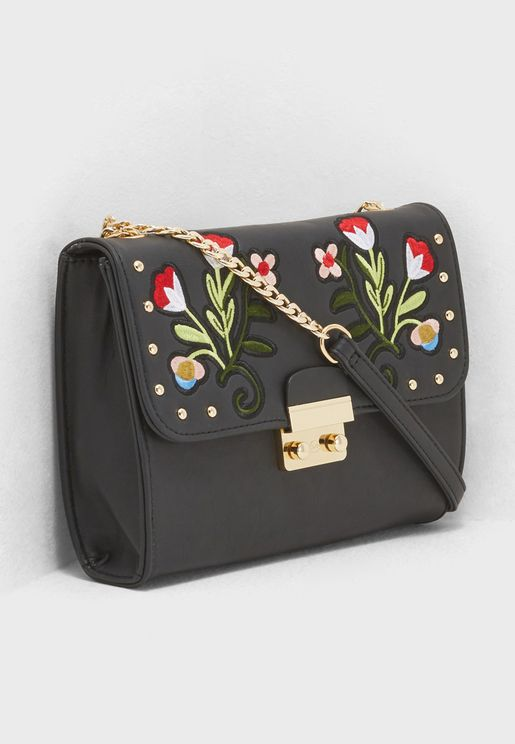 Floral Detailed Crossbody