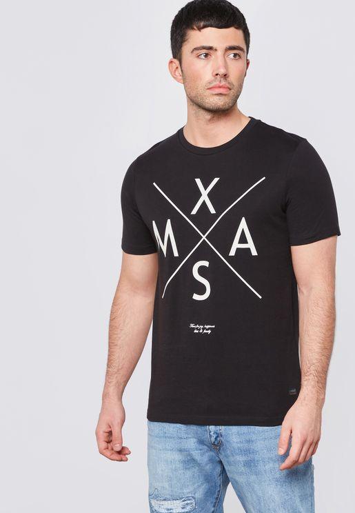 Snow Printed  T-Shirt