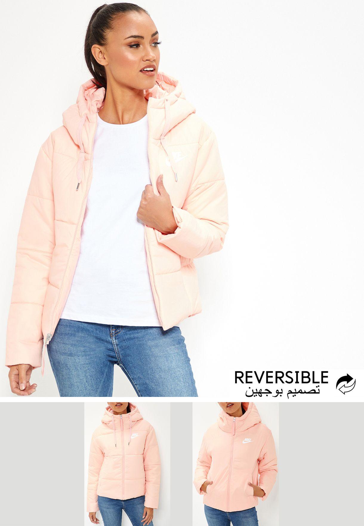 5615c42d88 Shop Nike pink NSW Reversible Jacket 939360-646 for Women in UAE ...