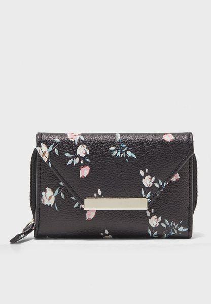 محفظة صغيرة بطبعات ازهار