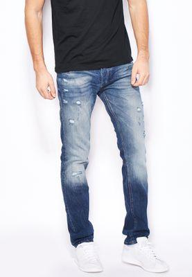Jack & Jones Tim Slim Fit Mid Wash Jeans