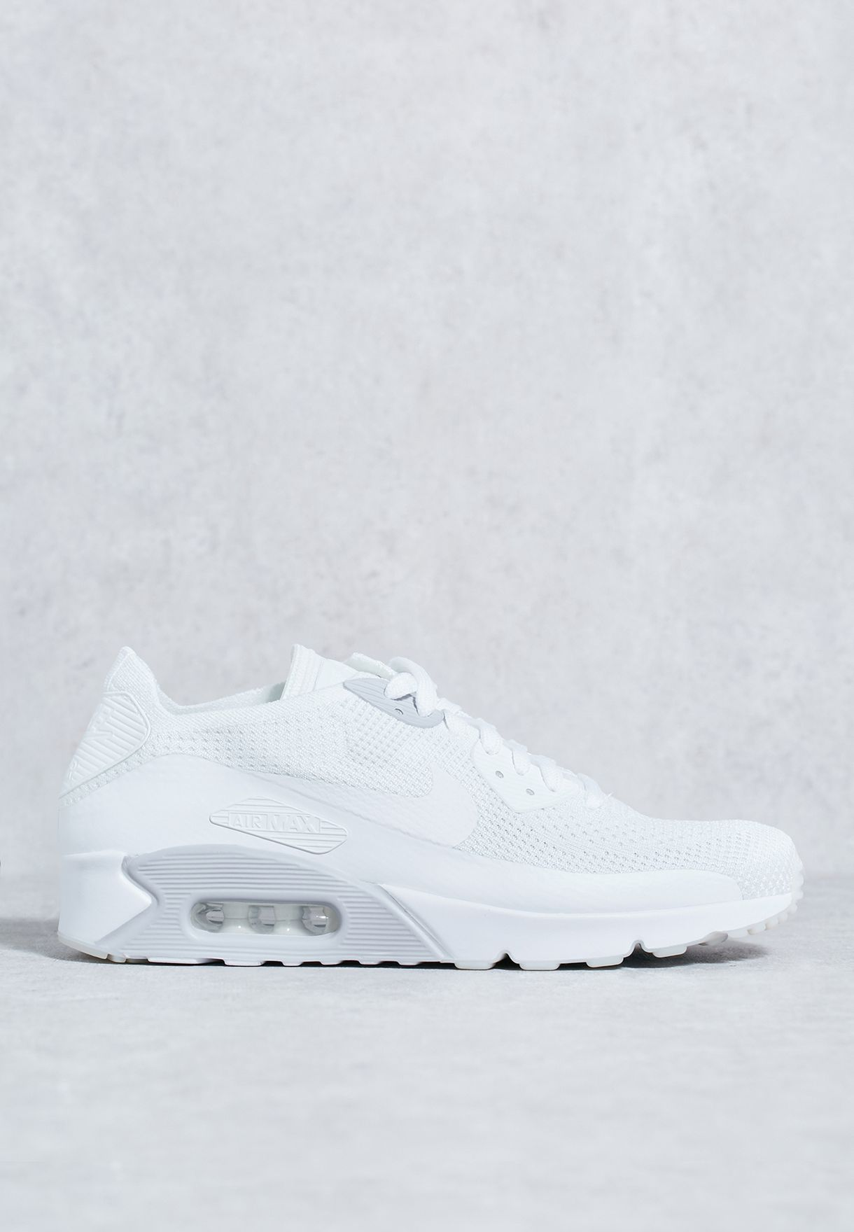 d95f0123e69 Shop Nike white Air Max 90 Ultra 2.0 Flyknit 875943-101 for Men in ...