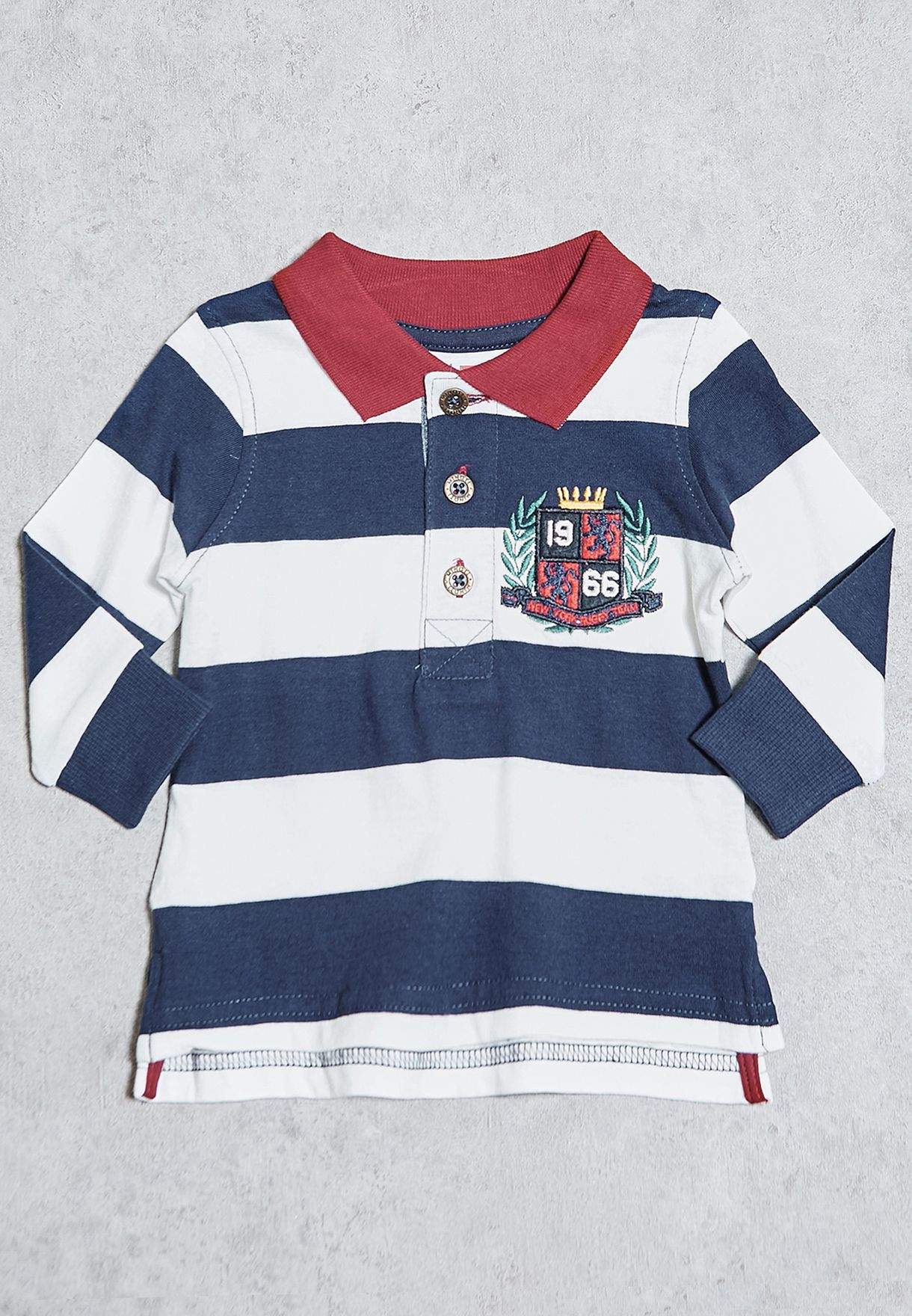 b6dde5693 Shop Minoti navy Infant Striped Polo COOL 1 for Kids in Bahrain ...