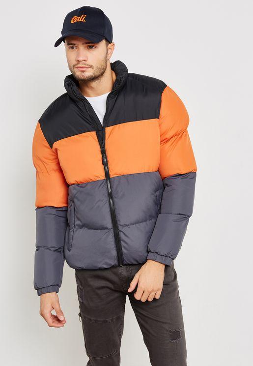 Colour Block Padded Jacket