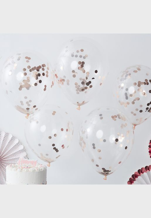 Set of 5 Confetti Balloon