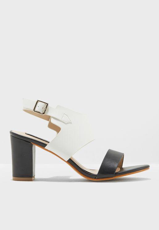 Siphone Block Heel Sandal