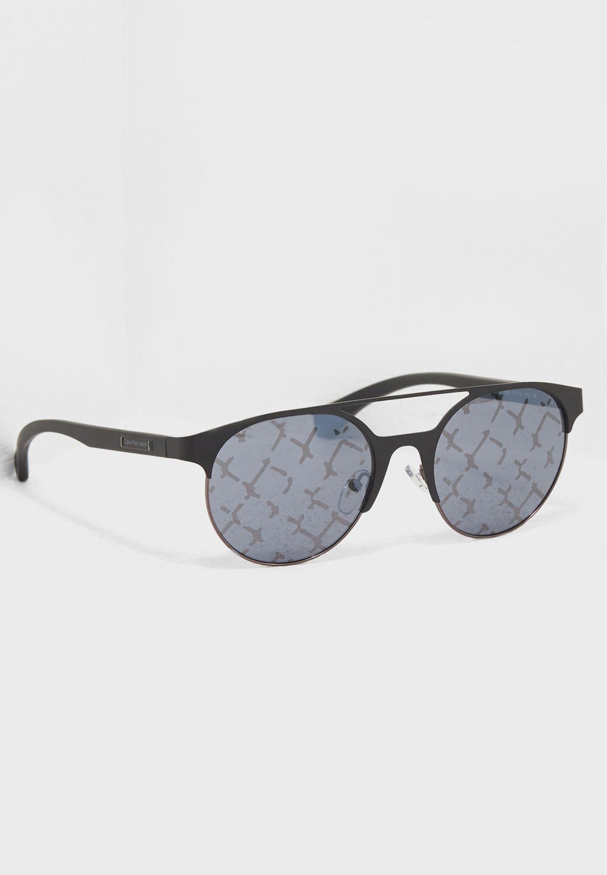 61dc1b121 تسوق نظارة شمسية عصرية انيقة ماركة كالفن كلاين جينز لون رمادي 35715 ...