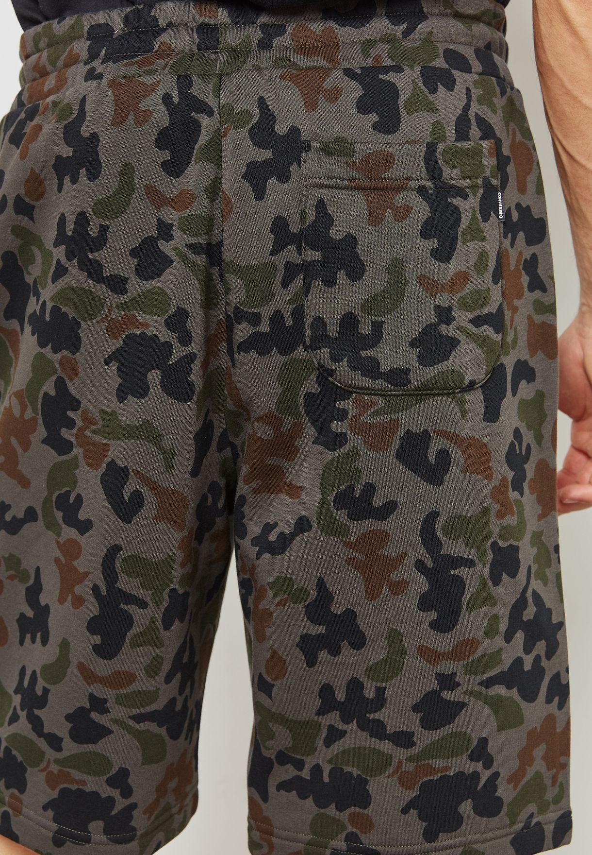 c0ada5bae58d Shop Converse prints Cam Chuck Patch Shorts 10005828-A01 for Men in ...