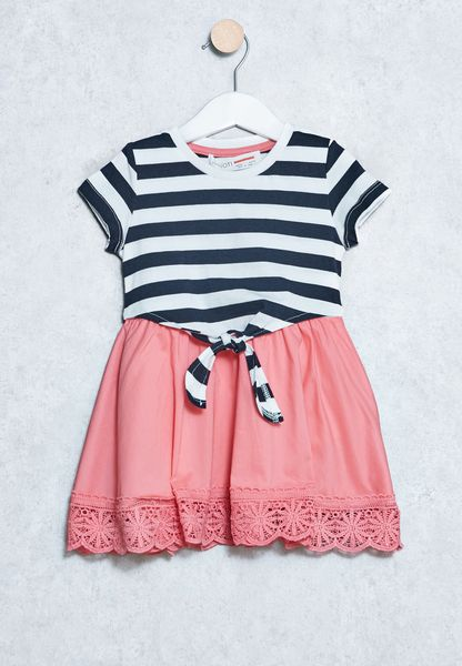 Infant Mixed Febric Dress