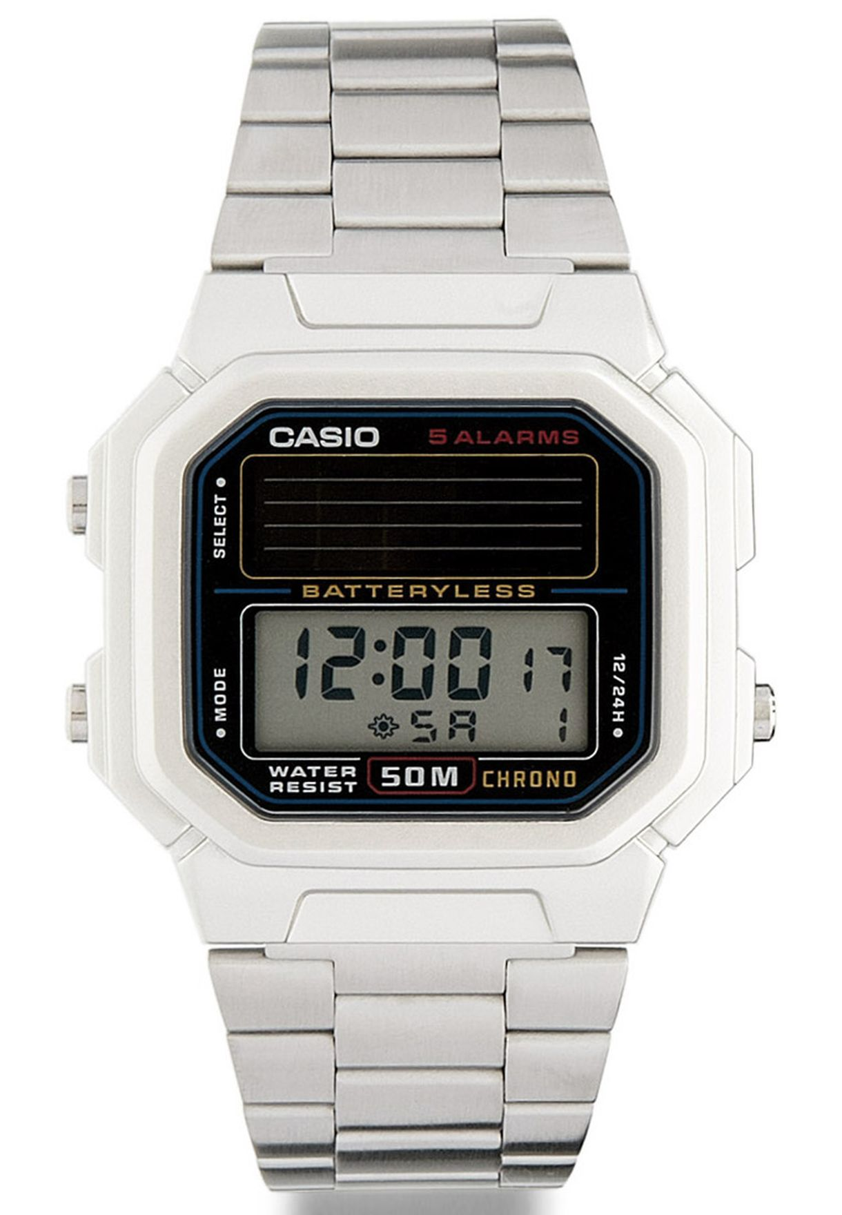77c142eb5 تسوق ساعة يد ديجيتال ماركة كاسيو لون فضي في الامارات - CA511AC26GDL