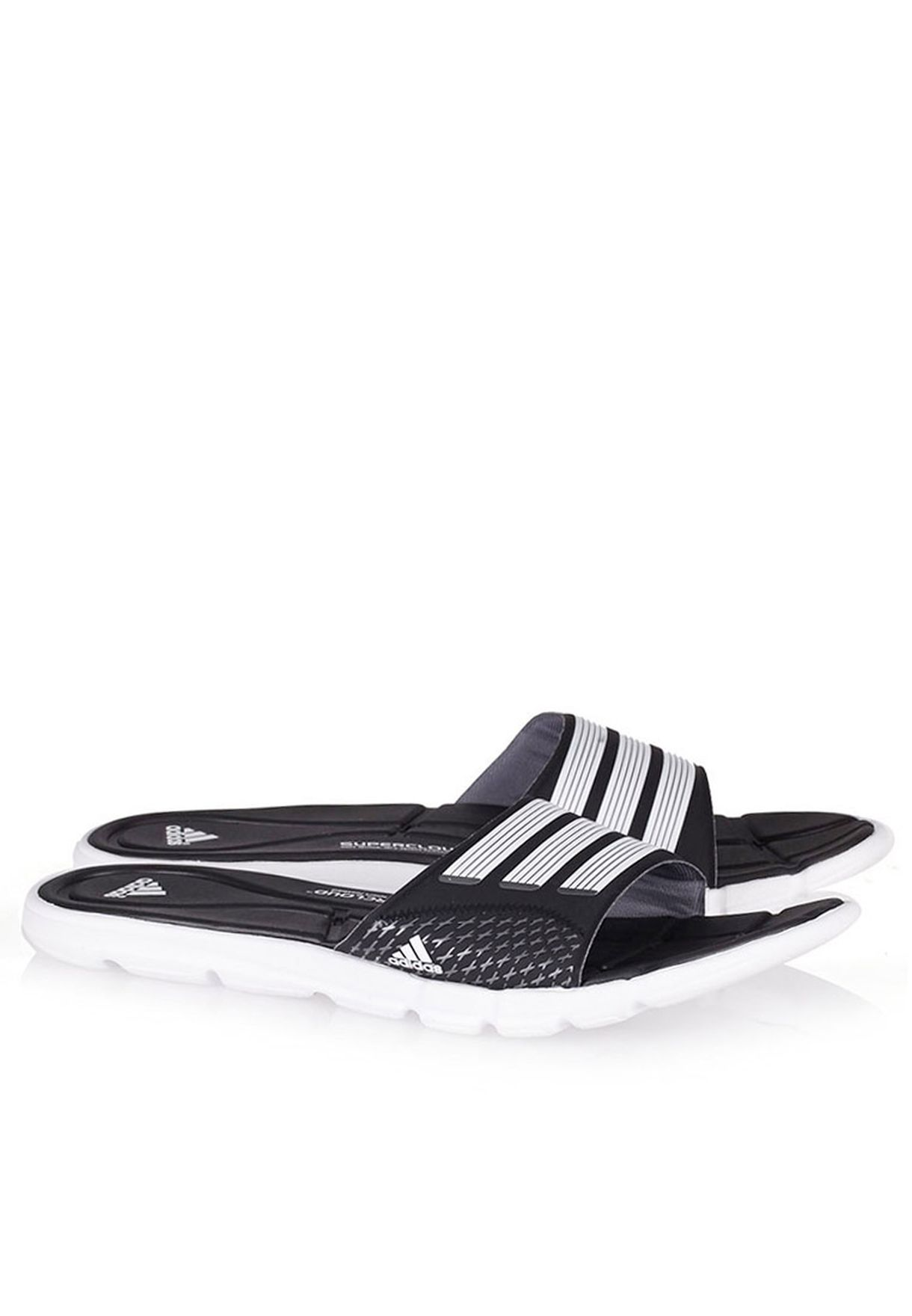 77f5ea44b94817 Shop adidas black Adipure 360 slide Flip Flops B44377 for Women in Qatar -  AD476SH26NHX