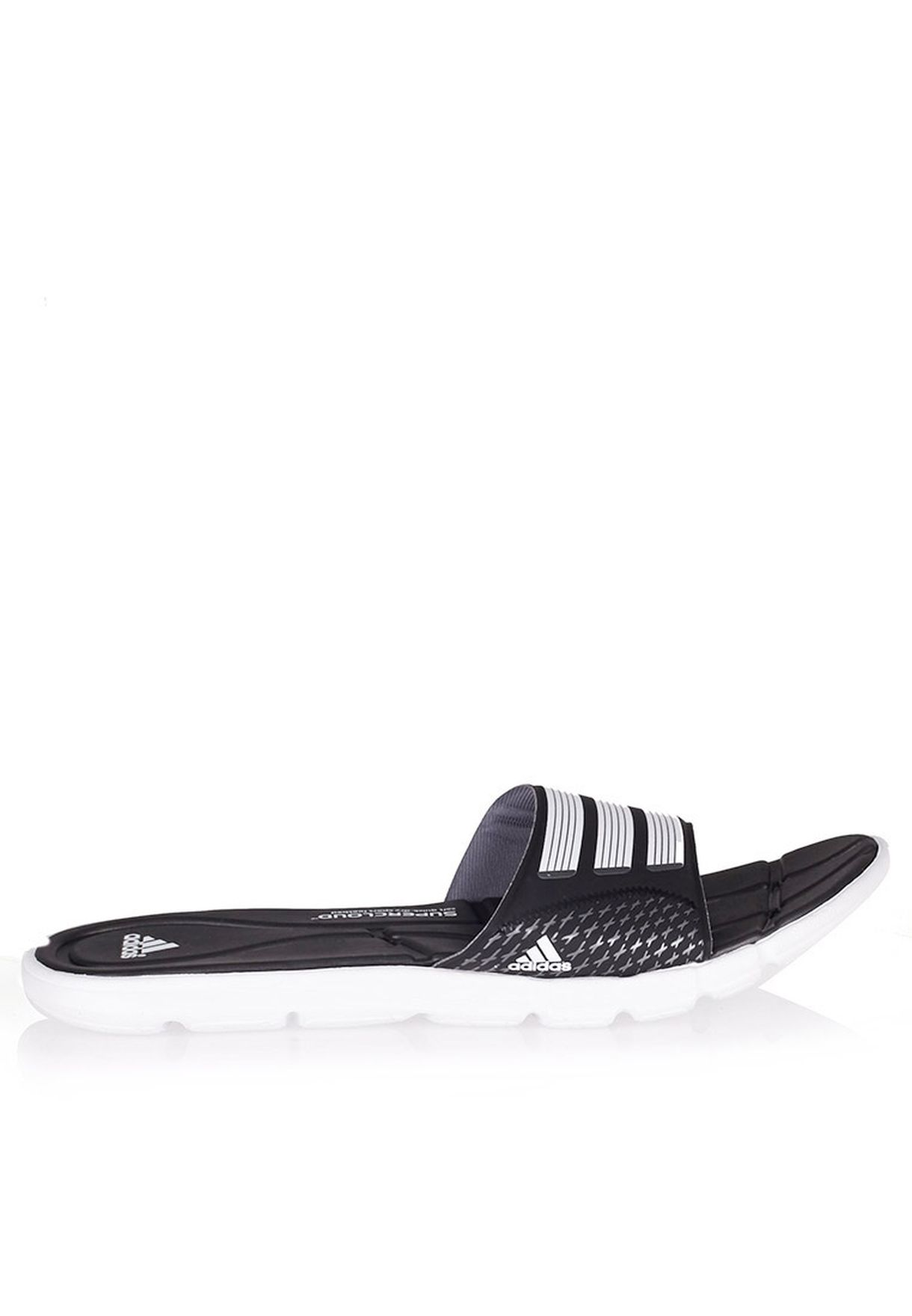 6400aa563af092 Shop adidas black Adipure 360 slide Flip Flops B44377 for Women in ...