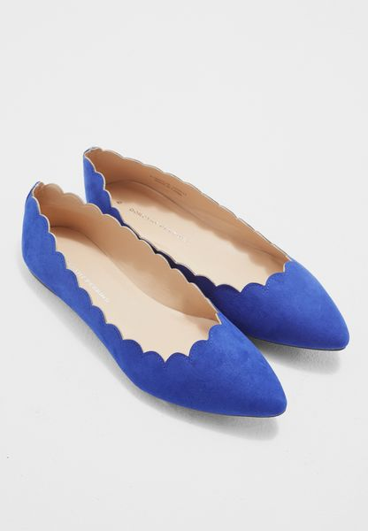 Cobalt Pasha Scallop Edge Pumps