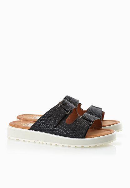 Print Strap Sandals