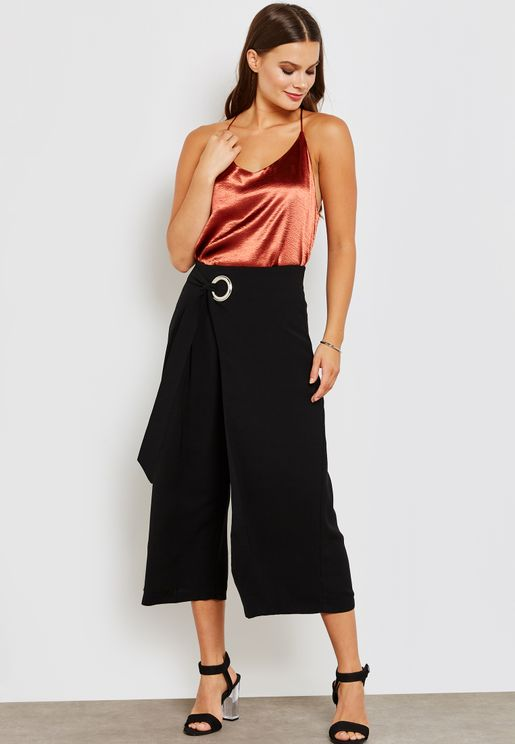 Overlap Ring Buckle Culottes
