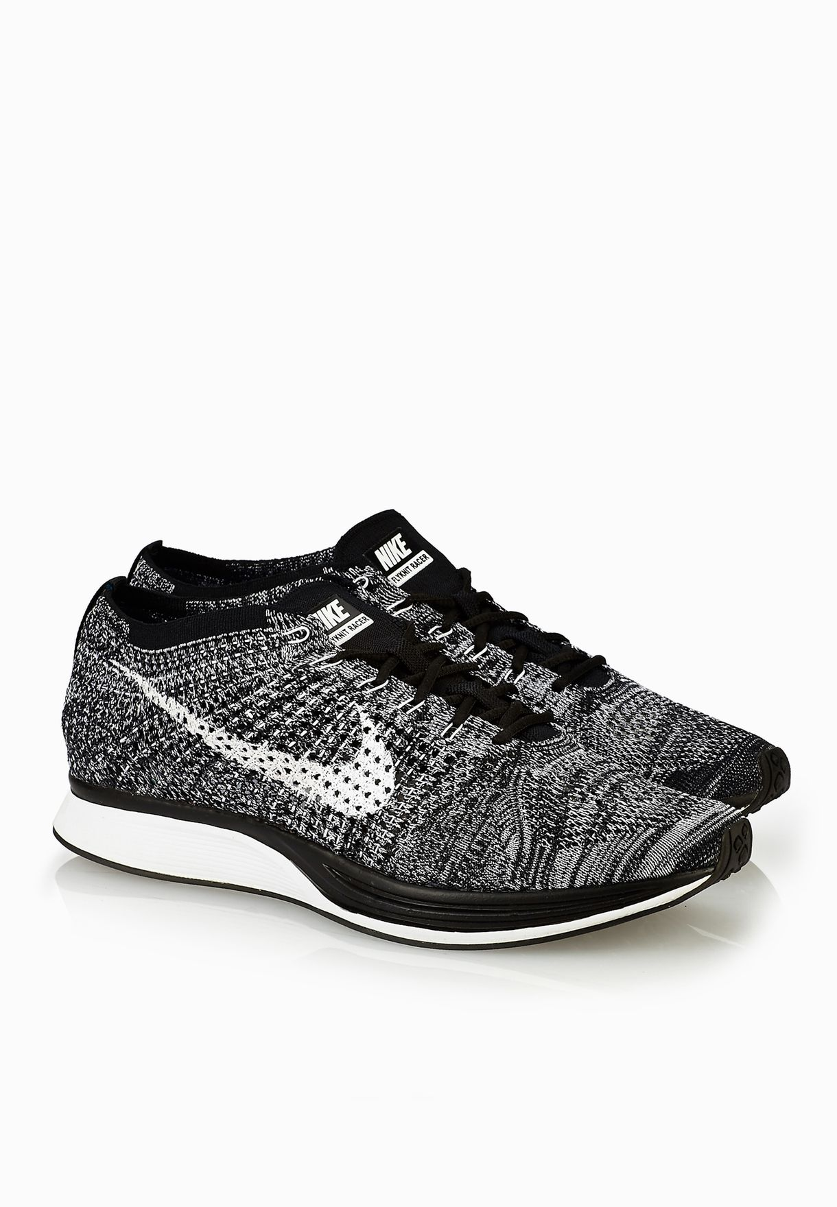 320e3c49d810 Shop Nike monochrome Flyknit Racer 526628-012 for Men in UAE - NI727SH26TDT