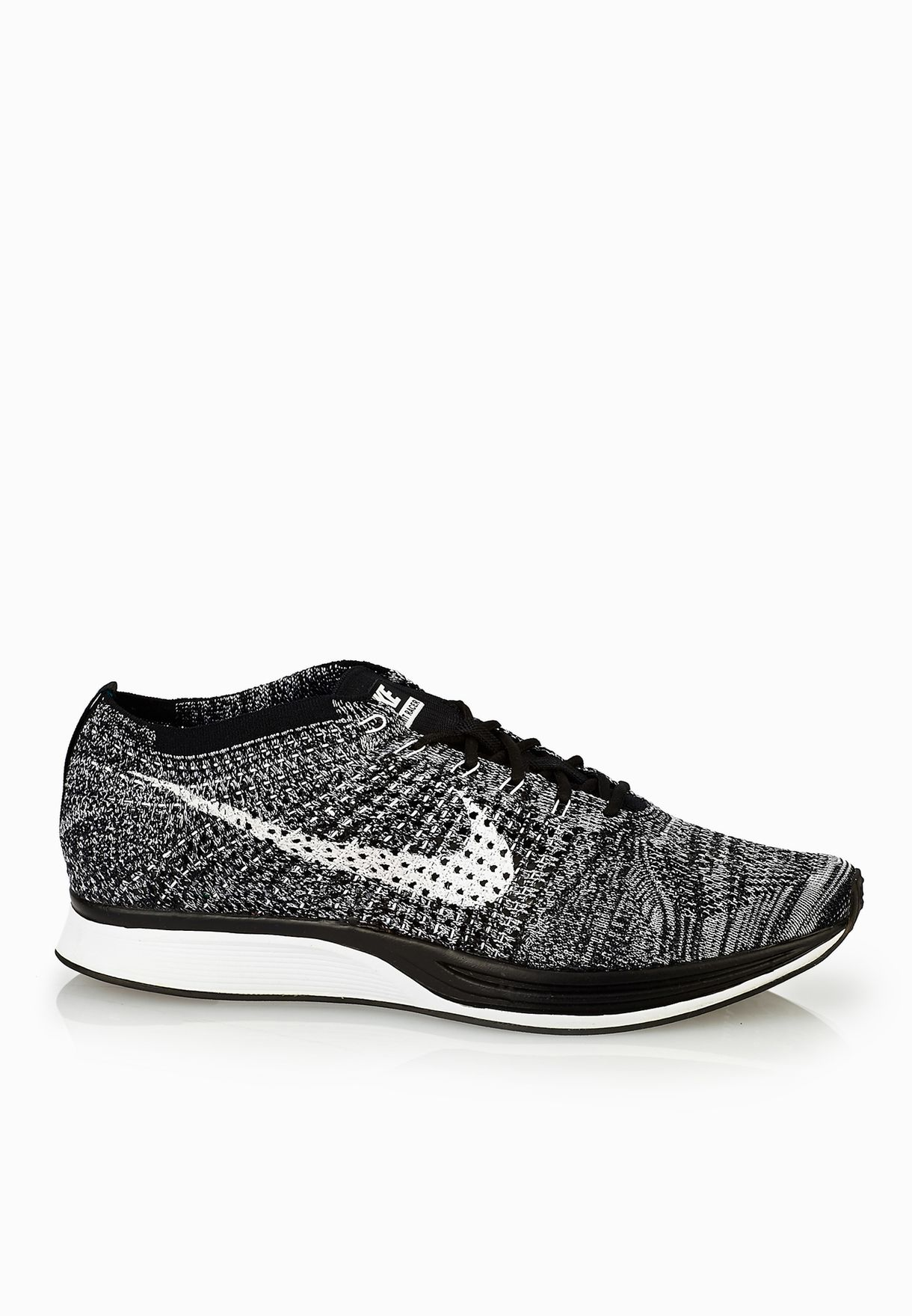 49649060ee68 Shop Nike monochrome Flyknit Racer 526628-012 for Men in UAE ...