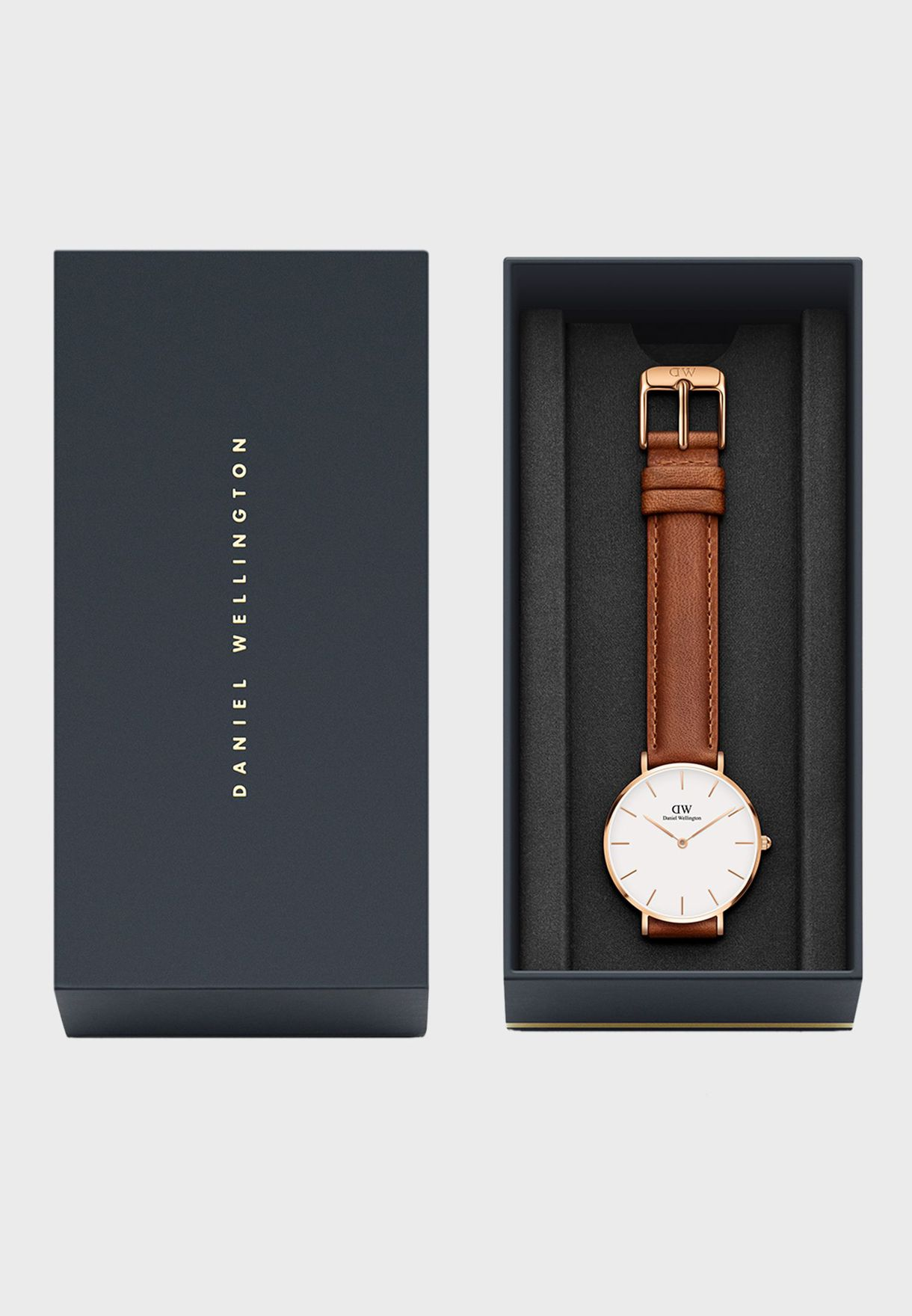 aba29e3d00a4 Shop Daniel Wellington browns Durham Classic Watch 28mm Rose Gold ...