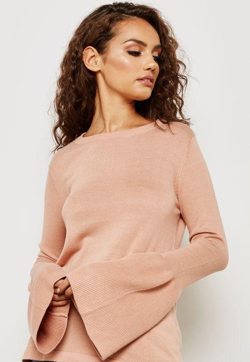 Flute Sleeve Sweater