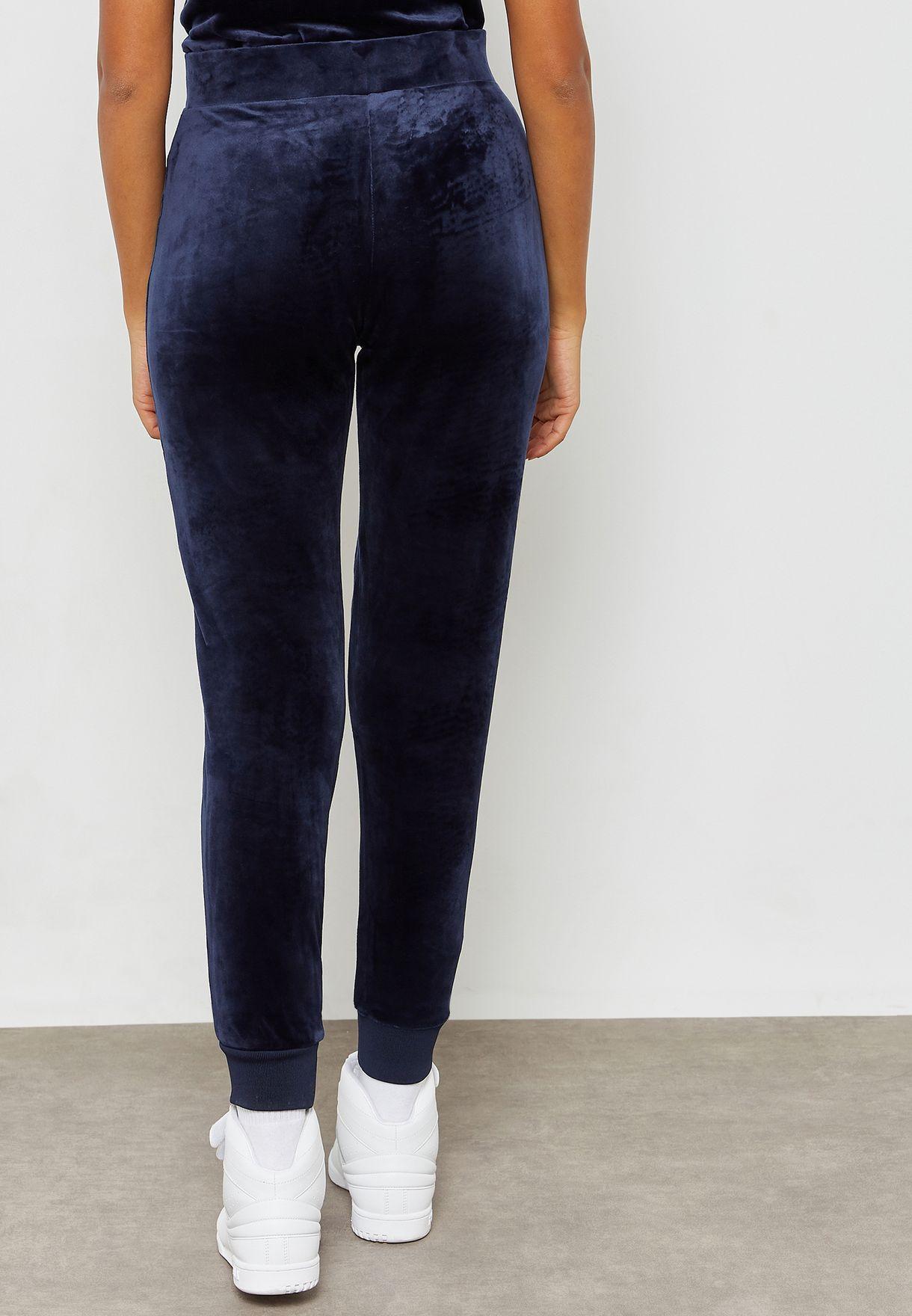 e92744be Shop Fila navy Sara Velour Sweatpants LW183Y76-410 for Women in ...
