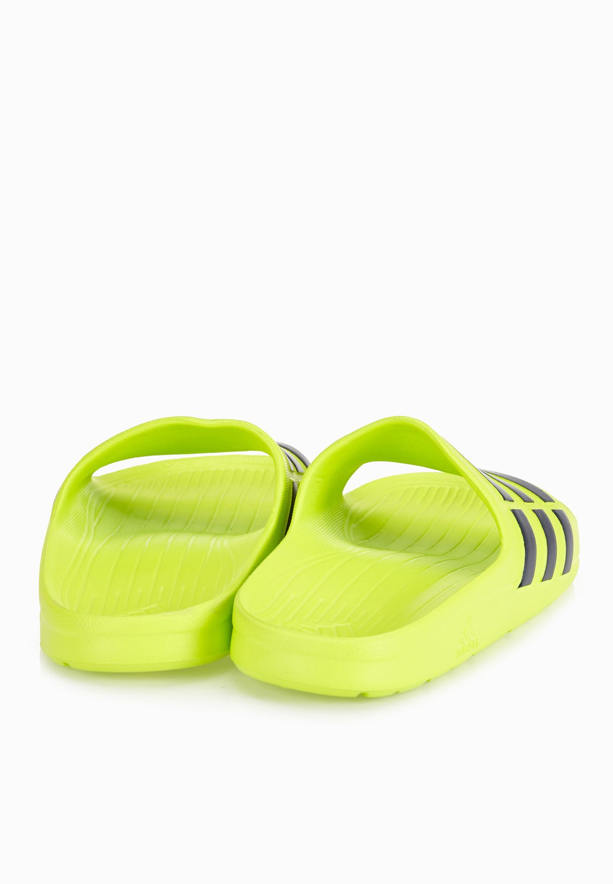 NEW Adidas Mens Duramo Sliders Flip Flops Green//Yellow SIZE FROM 6-12 Limited