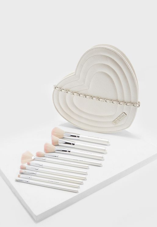 Sweetheart Collection 10 Piece Makeup Brush Set