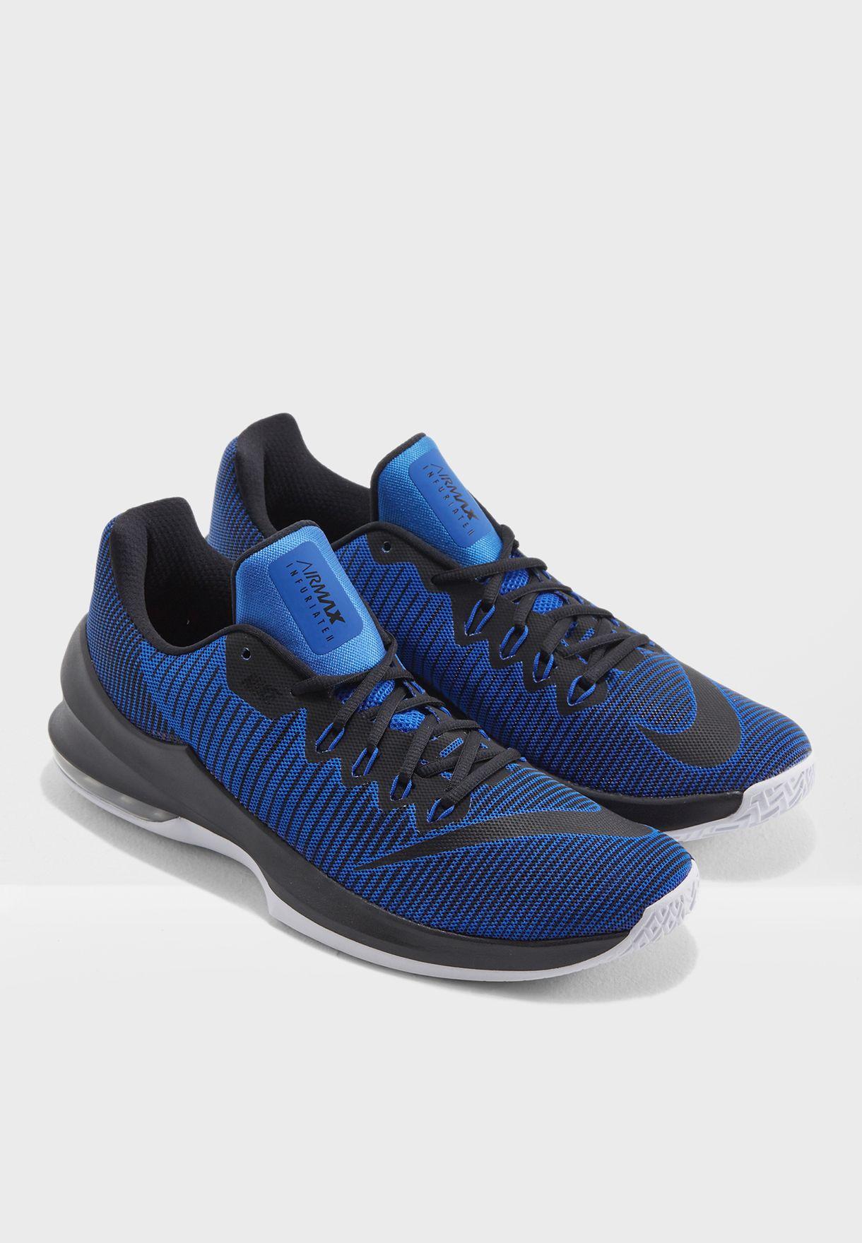 36450063121d Shop Nike blue Air Max Infuriate 2 Low 908975-400 for Men in UAE ...