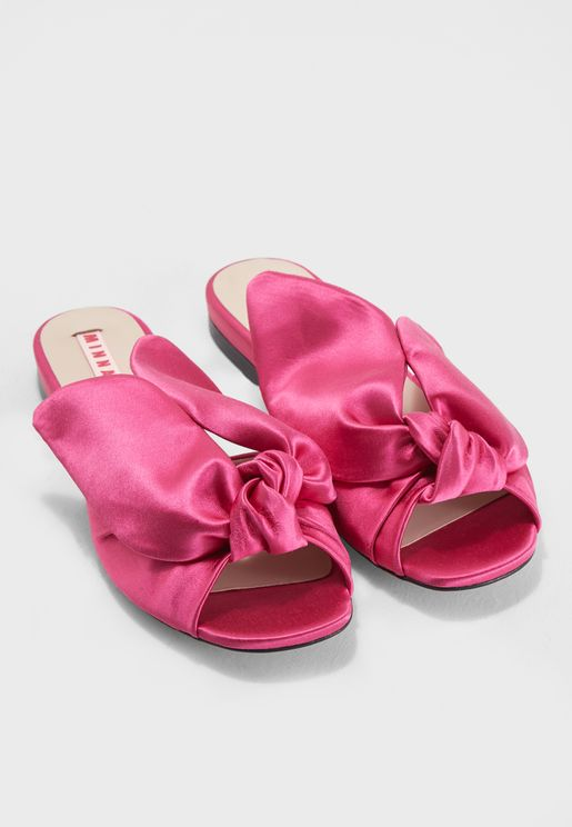 Amelia Flat Mule Sandal