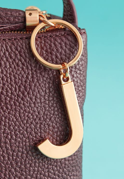 J Initial Luxe Keyring