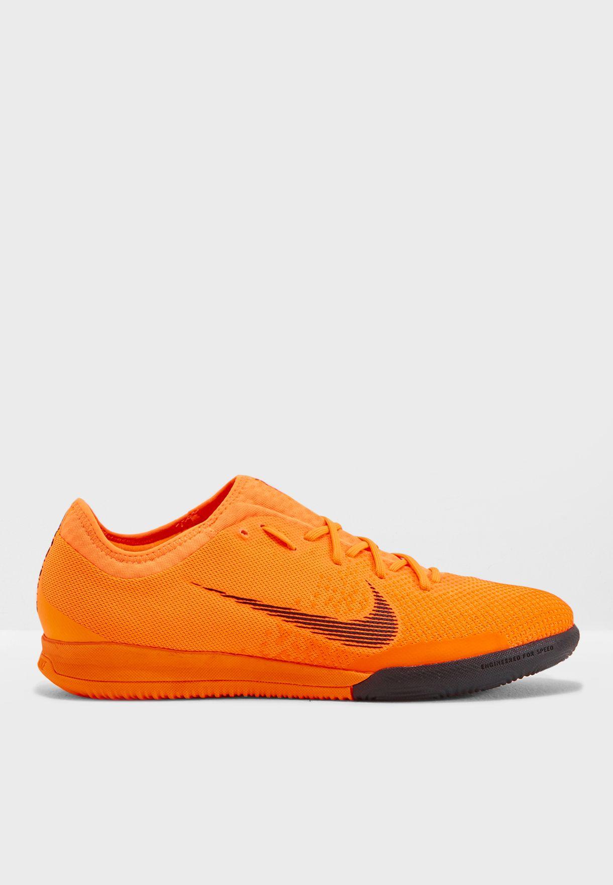 60a3a7353 Shop Nike orange Mercurial Vaporx 12 Pro IC AH7387-810 for Men in ...