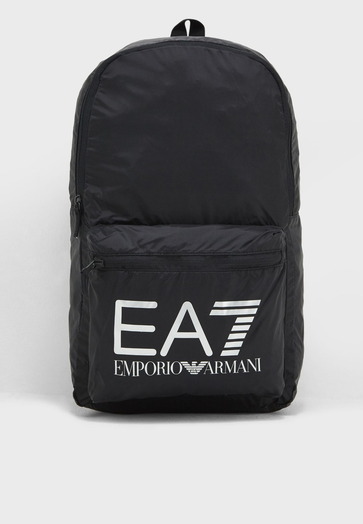 5ad1747b17f5 Shop Ea7 Emporio Armani black Train Foldable Backpack CC801-245002 ...