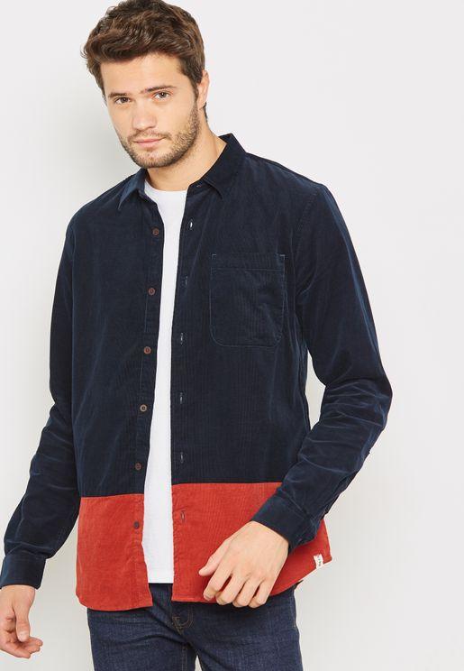 Cord Colour Block Shirt