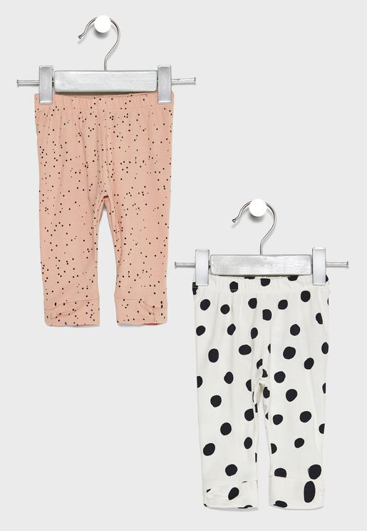 Infant 2 Pack Printed Leggings